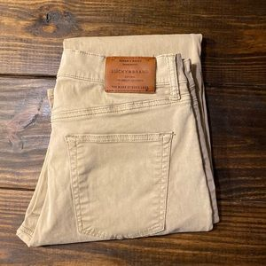 Men's Lucky Brand 363 straight Tan jeans (x2)